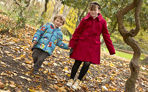 Children walking in Oxleas Woods