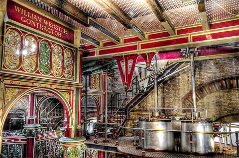 Interior of Crossness Pumping Station