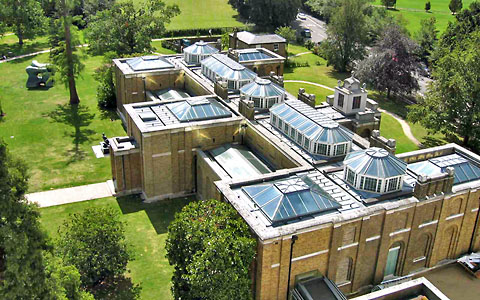Aerial view of Dulwich Picture Gallery