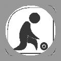 Lawn bowling icon - bowling