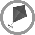 Kite icon - playing fields