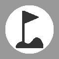 Golfing flag-stick icon - Golf