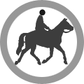 Horse and rider icon - horse riding