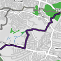 Green Chain Section 3 route map thumbnail