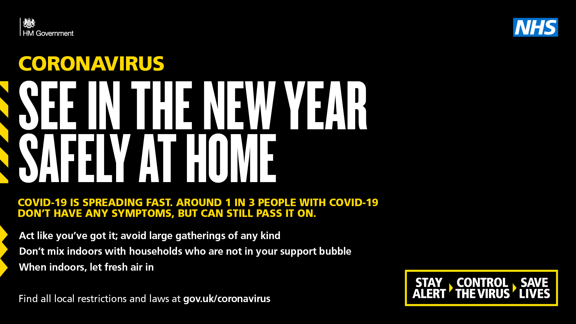 stay safe for new year at home