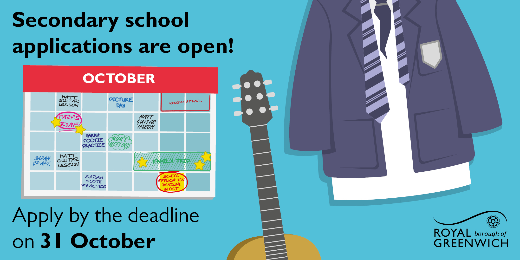 Secondary school applications close soon – register your child now!