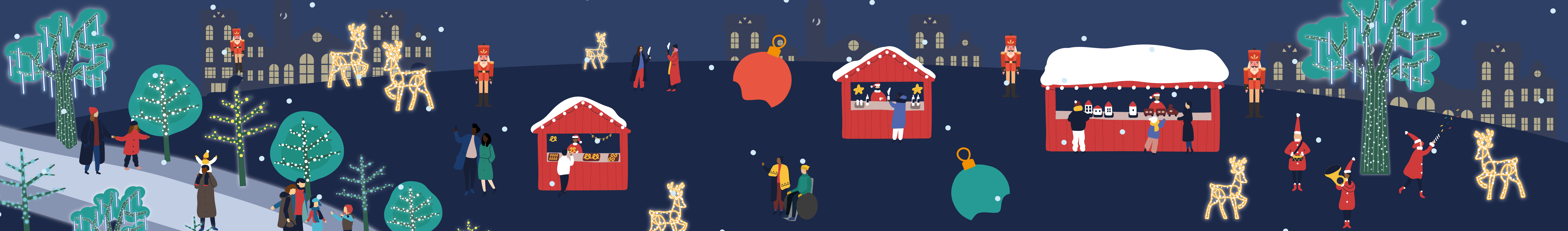 Christmas illustration banner