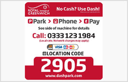 Cashless parking signage