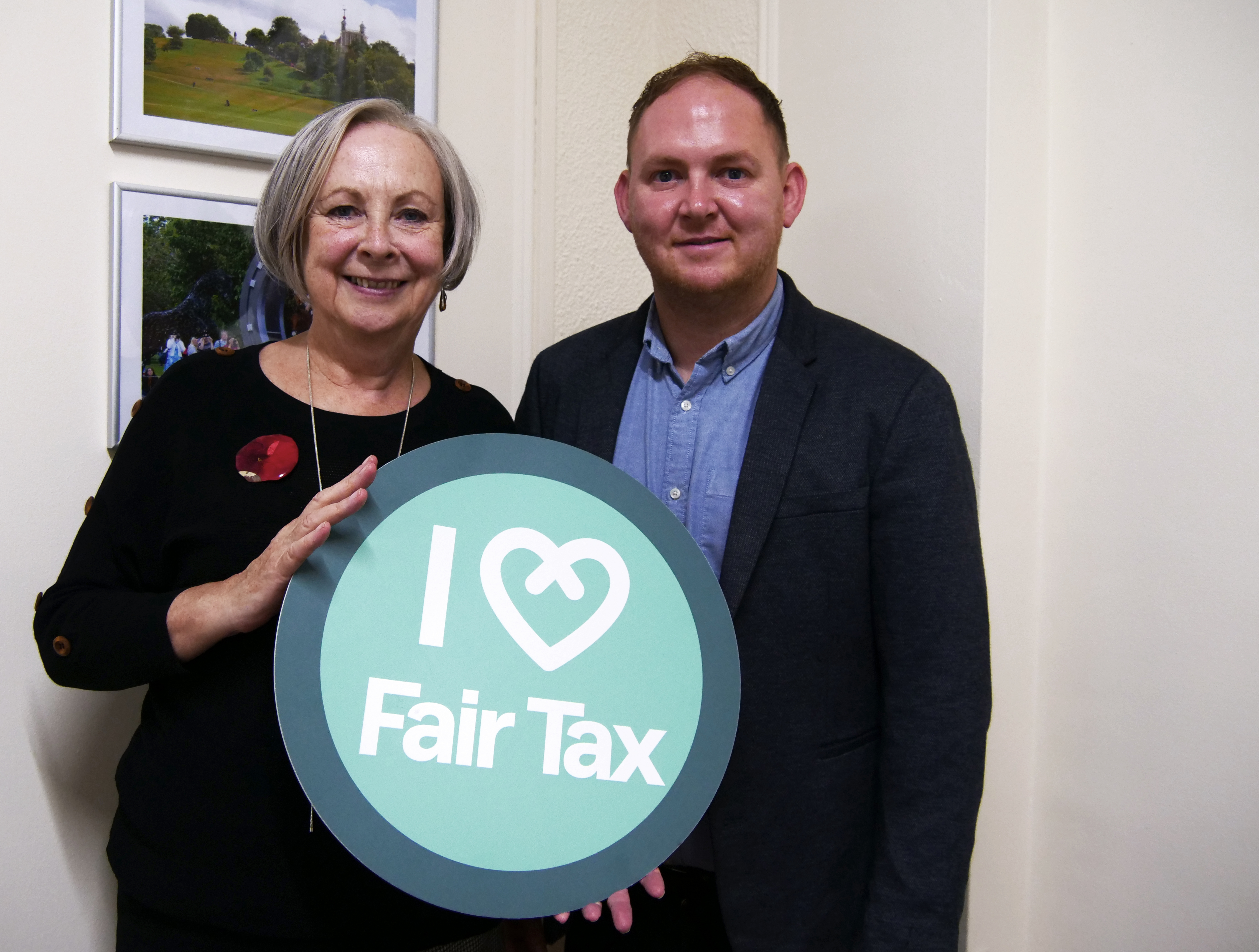 Cllrs Thorpe and Grice show support for fair tax