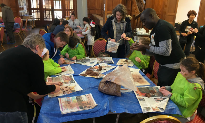 Lots of family fun at the Fairtrade workshops