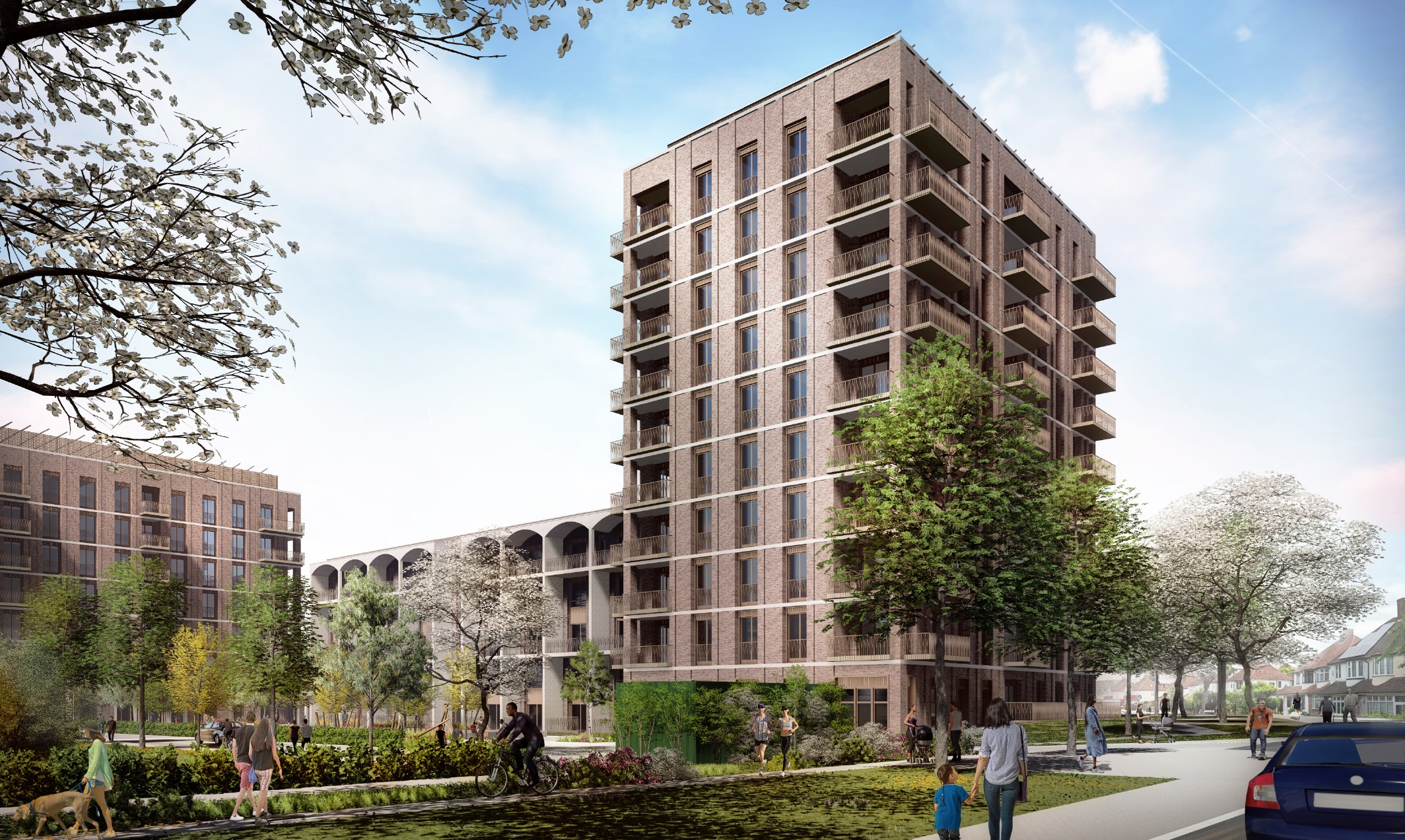 Proposed design for new homes at Kidbrooke Park Road
