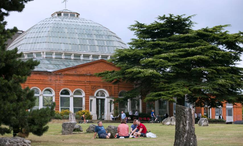 The Winter Garden in Avery Hill Park