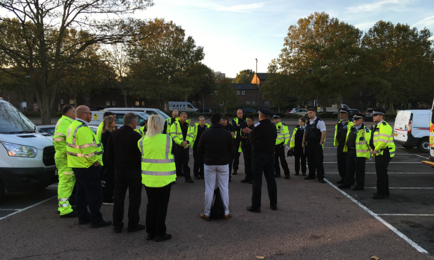 Officers assemble to begin operation 'Stop it'