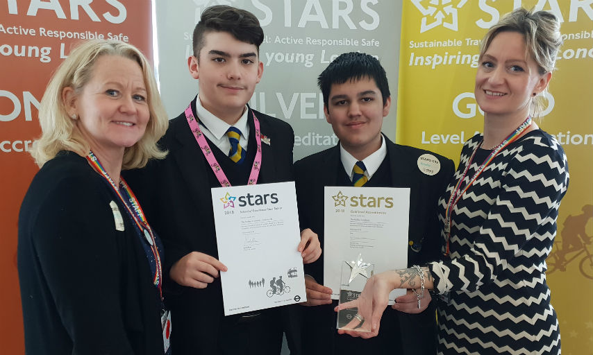 The Halley Academy scooped the Excellence in Road Safety award