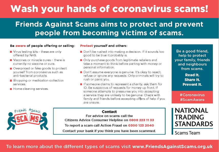 Wash your hand of covid19 scams