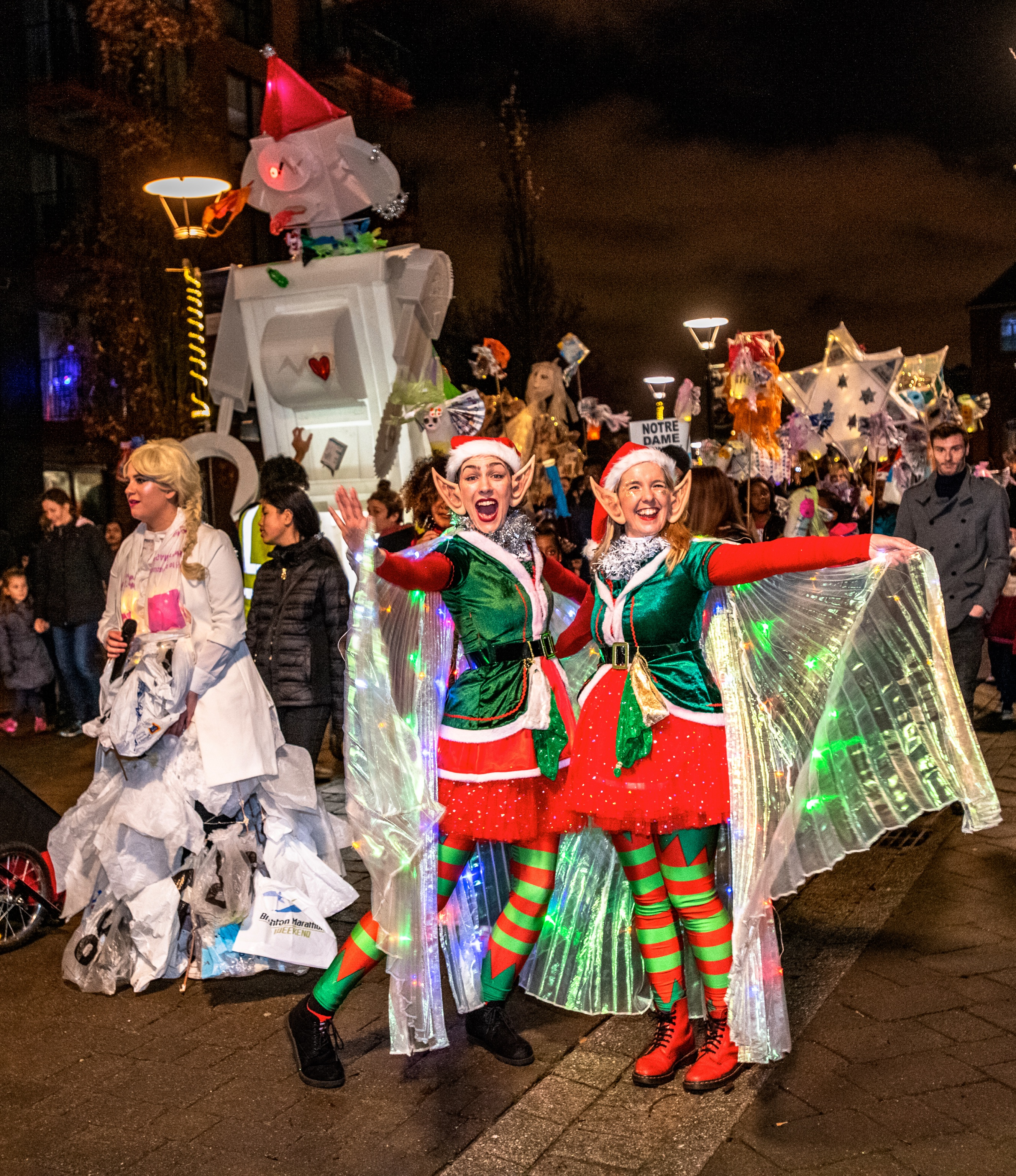 Elves and parade at Woolwich Winter Warmer