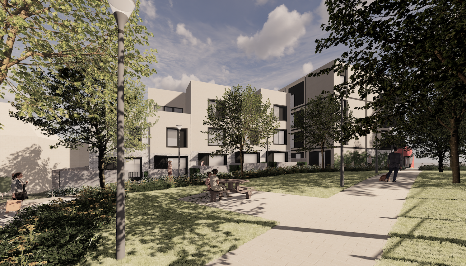 A computer generated view of how the new homes at Bournbrook Road will look