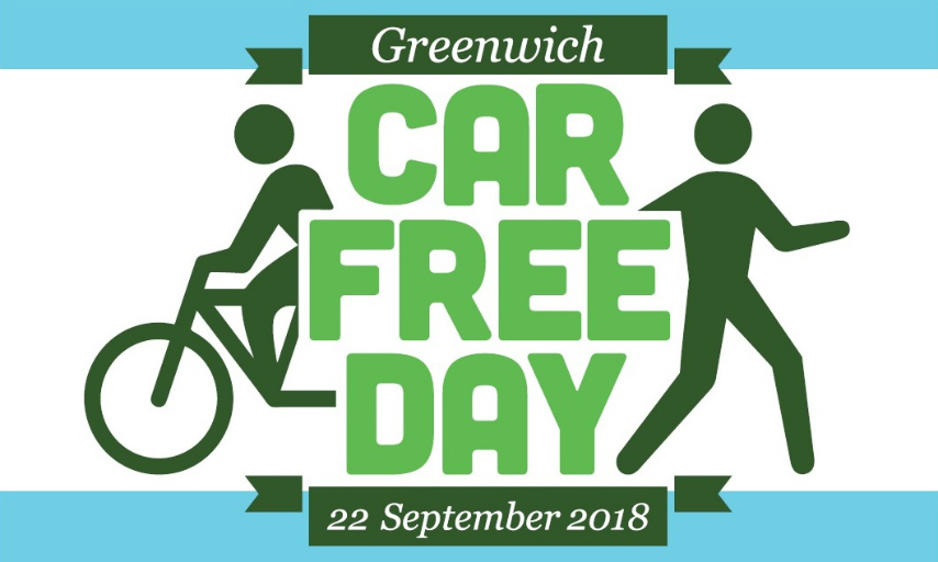 Greenwich Car Free Day 22 September 2018 logo