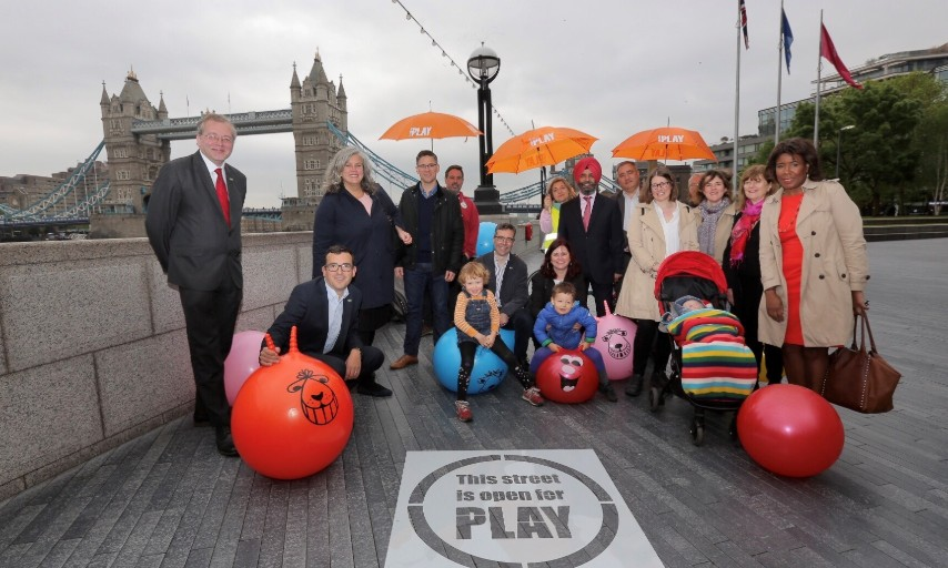 Play Streets launch at City Hall