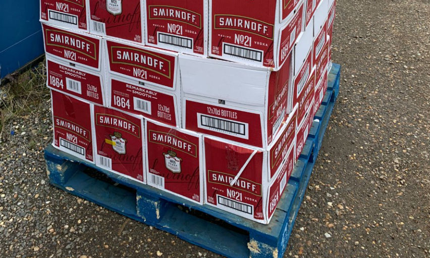 900 bottles of illegal Smirnoff vodka seized in Greenwich.