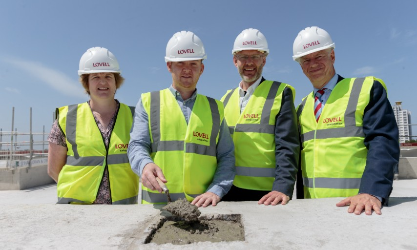 Trinity Walk topping out ceremony phase 3 June 2019